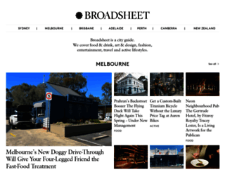 broadsheet.com.au screenshot