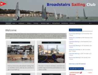 broadstairssailingclub.com screenshot