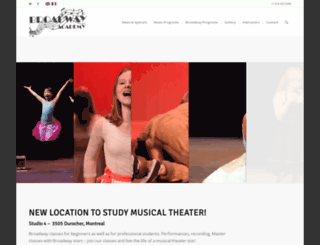 broadway-academy.com screenshot