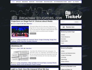 broadwayeducators.com screenshot