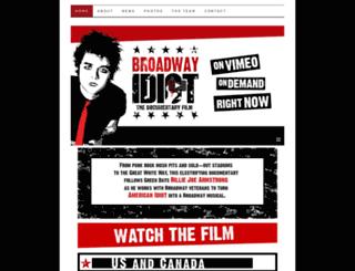 broadwayidiot.com screenshot