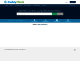 broadwayinfotech.net screenshot