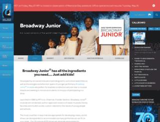 broadwayjr.com screenshot