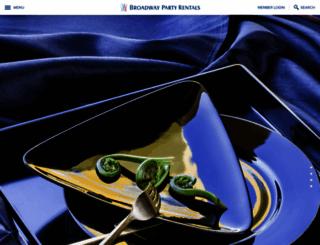 broadwaypartyrentals.com screenshot