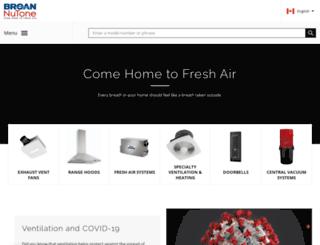 broan.ca screenshot