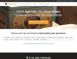 brocantes.be screenshot