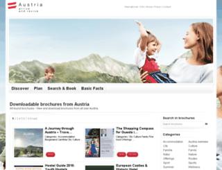 brochures.austria.info screenshot