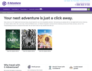 brochures.gadventures.com screenshot