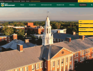 brockport.edu screenshot