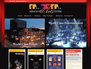 brockvilleartscentre.com screenshot