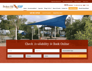 brokenhilltouristpark.com.au screenshot