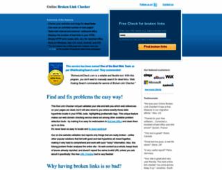 brokenlinkcheck.com screenshot