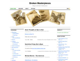 brokenmasterpieces.com screenshot