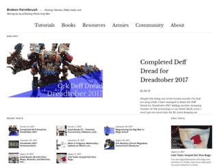 brokenpaintbrush.com screenshot