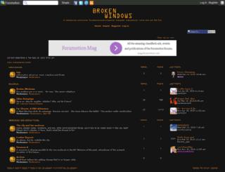 brokenwindows.forumotion.com screenshot
