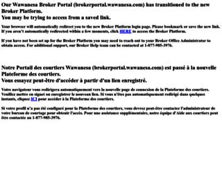 brokerportal.wawanesa.com screenshot