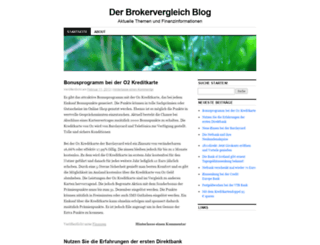 brokervergleich.wordpress.com screenshot
