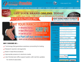brokingfranchise.net screenshot