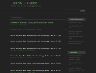 bromujaheed.blogspot.com screenshot