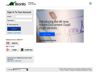 bronto.echosign.com screenshot