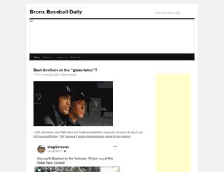 bronxbaseballdaily.com screenshot