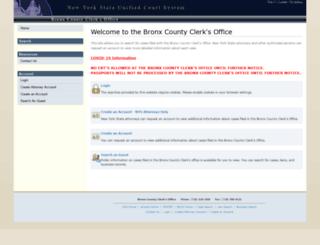 bronxcountyclerkinfo.com screenshot