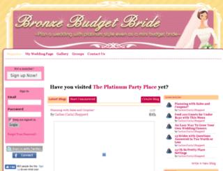 bronzebudgetbride.com screenshot
