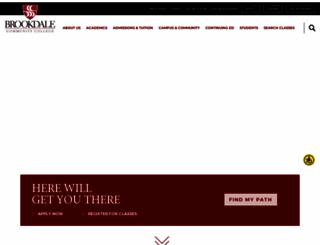 brookdalecc.edu screenshot