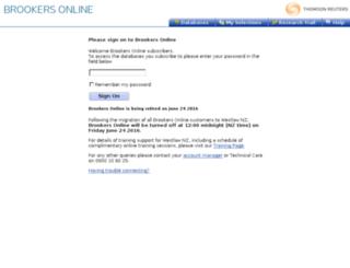 brookersonline.co.nz screenshot