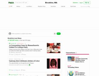 brookline.patch.com screenshot