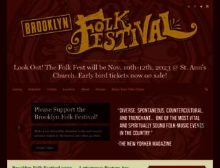 brooklynfolkfest.com screenshot