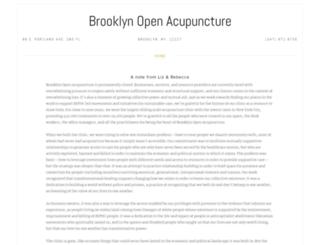 brooklynopenacupuncture.com screenshot