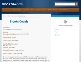 brookscounty.georgia.gov screenshot