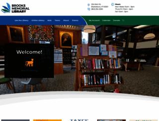 brookslibraryvt.org screenshot