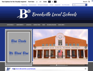 brookvilleschools.org screenshot