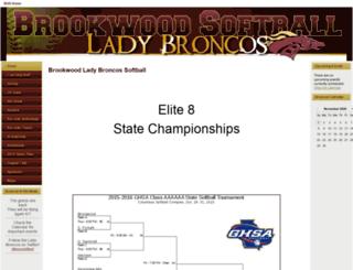 brookwoodbroncosoftball.com screenshot