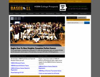 browardhighschoolbaseball.com screenshot