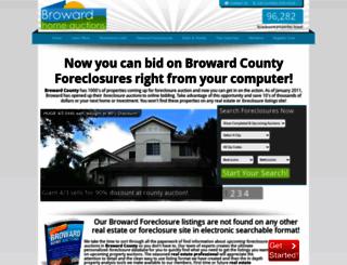 browardhomeauctions.com screenshot