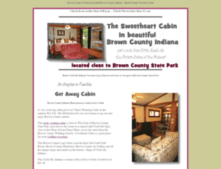 browncountycabin.com screenshot