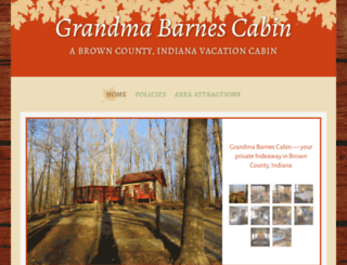 browncountycabins.com screenshot