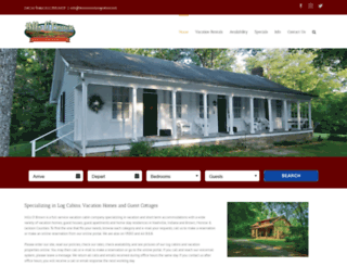 browncountylogcabins.com screenshot