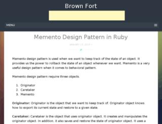brownfort.com screenshot