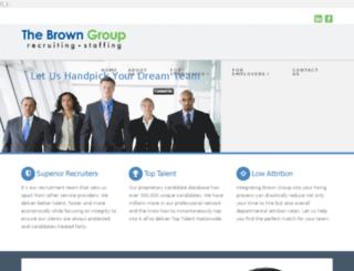 browngrouprecruiting.com screenshot