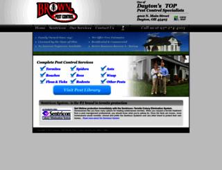 brownpestcontrol.com screenshot