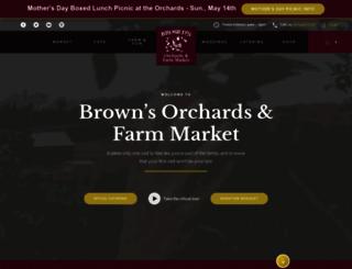 brownsorchards.com screenshot