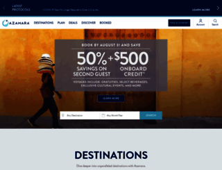 browse.azamaraclubcruises.com screenshot