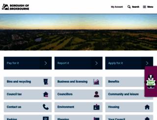 broxbourne.gov.uk screenshot