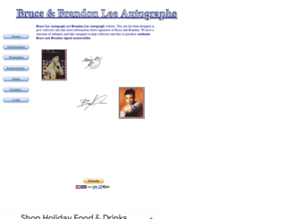 bruceleeautographs.info screenshot