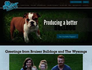 bruiserbulldogs.com screenshot