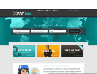 brunei.xpatjobs.com screenshot